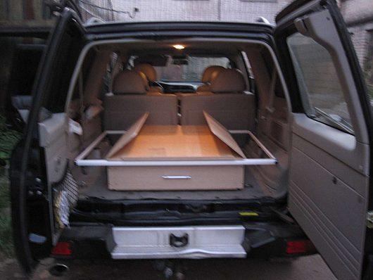 Спальник в авто своими руками фото